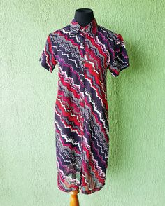 The colours of this Chiffon shirt dress are so cool #houseofnavayle houseofnavayle.blogspot.com