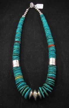 Nestoria Coriz Santo Domingo ~ Kewa ~ Blue Gem Turquoise Necklace