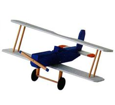 Wood Model Biplane Craft Kit