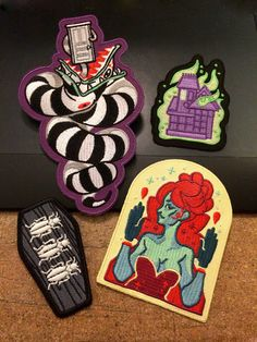Coffin Kitsch: Kitsch Picks: Beetlejuice Patches Artwork by Shy Custis