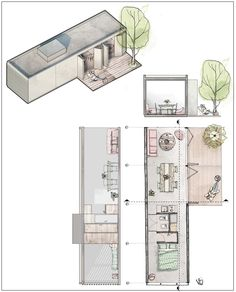 Tiny House Plans 455145106090347174 - on Behance Source by Container Buildings, Container Architecture, Architecture Plan, Container Home Designs, Compact House, Micro House, Small House Plans, House Floor Plans, Shipping Container House Plans