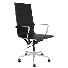SOHO Tall Back Ribbed Management Chair (Black) Office Chair Price, Black Office Chair, Mesh Office Chair, Chair Upholstery, Upholstered Dining Chairs, Bankers Chair, Ikea, Desk Height, Executive Office Chairs