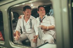 Michael + Kyle: A Nautical Beach Wedding and a City Hall Marriage | Equally Wed - A gay and lesbian wedding magazine.