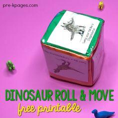 Dinosaur Roll and Move Gross Motor Activity