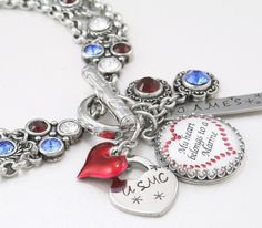 Military Charm Bracelet