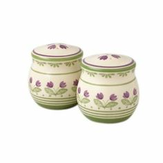 Pfaltzgraff Circle of Kindness Purple Flowers Salt and Pepper Set by Pfaltzgraff. $9.89. Circle of Kindness is hand-painted. Made of durable, chip resistant stoneware. Dishwasher safe.. The Purple Flower salt & pepper set coordinates with the Dunwalsh collection, however you could also used with the Merriweather collection.. Designed to coordinate with the Dunwalsh place setting, the signature purple floral motif circles both pieces and is repeated on the tops.. A beautiful p...