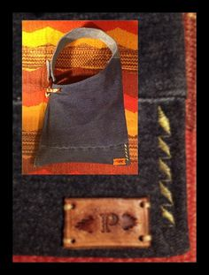 Reclaimed Denim Hobo Tote by paintedponyarts on Etsy