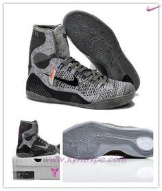21a3288543ad scarpe da tennis 636602-004 Kobe 9 Elite GS Base gre Nero-dark Grigio Base
