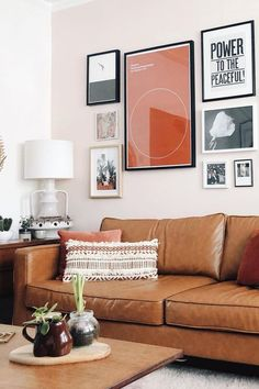 Fake An Expensive Couch With Tan Leather Slipcovers | Yes, you heard that right. Get your hands on our leather slipcovers to upgrade your IKEA sofa!