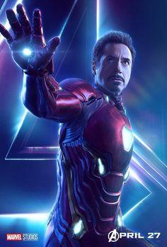 Avengers: Infinity War Iron Man character original poster Marvel comic movie quality print
