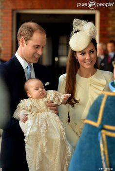 Baptême du prince George de Cambridge, le 23 octobre 2013 au palais Saint James.