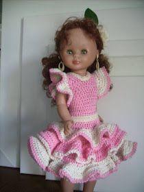 Crochet Doll Clothes, Crochet Hats, Dolls, Dresses, Fashion, Crochet Dresses, Half Sleeves, Templates, Home
