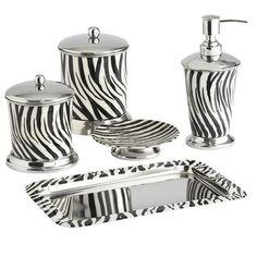 Zebra Bath Accessories, for my girl who loves Zebra print! ♥ Jessica