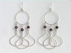 Long Dangle Earrings Chandelier Earrings by DaliaShamirJewelry