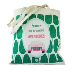 Tote bag: La vie est plus belle en vert Organization, Tote Bags, Green, New Adventures, Retro Look, Satchel, Original Gifts, Boutique Online Shopping, Baby Born