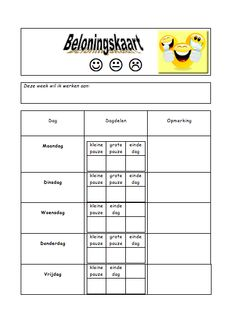Schermafbeelding 2012-01-22 om 20.20.30 Learn Dutch, Social Skills Lessons, Therapy Worksheets, School Info, School Items, Positive Behavior, Creative Teaching, School Teacher, Kids Education