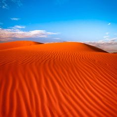 """Red sand dune with ripple and blue sky"" by Oat Vaiyaboon, via - Australia (Oceania) Outback Australia, Australia Travel, Desert Dunes, Brisbane, Melbourne, Beautiful World, Beautiful Places, Belle Photo, Beautiful Landscapes"