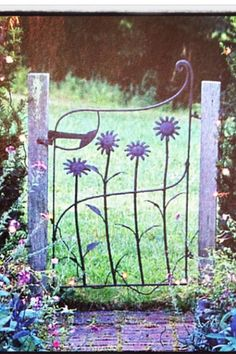 A gate that opens to relaxation. Enrich the looks of your ga.- A gate that opens to relaxation. Enrich the looks of your garden. A gate that opens to relaxation. Enrich the looks of your garden. Metal Garden Gates, Garden Paths, Metal Gates, Iron Gates, Garden Archway, Garden Gates And Fencing, Garden Doors, Patio Doors, Steel Fence