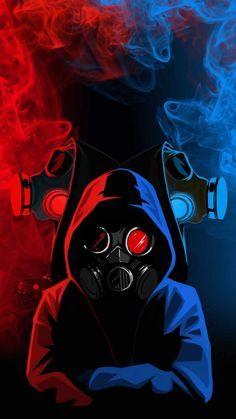 Hoodie Gas Mask People - iPhone Wallpapers