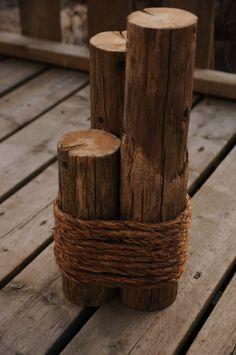 Reclaimed Cedar Fence Posts by OYKNOT on Etsy, $25.00