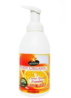 Organic Foaming Body Wash Citrus Splash by Nature's Paradise