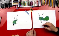 How to draw an ant, for young artists!