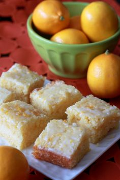 Meyer lemon cake bars | Kitchen Treaty
