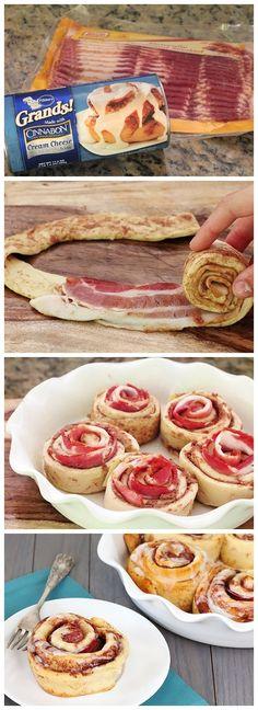 Bacon Cinnamon Rolls. #foodporn #watchwigs www.youtube.com/wigs