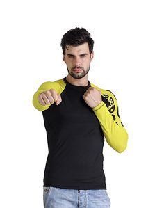 Men's Yellow & Black T-shirt – Atheno India