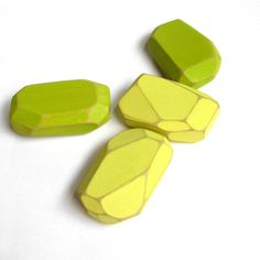 Geometric Wood Magnets Faceted Reclaimed Wood Citron Made to Order. $12.00, via Etsy.