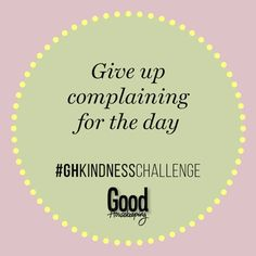 67 daily acts of kindness: Here are some easy ways you can make someone's day. Kindness Challenge, Good Housekeeping, Acting, Challenges, Easy, Bucket, Buckets, Aquarius