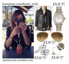 """Eleanor Calder / Instagram Picture 04.17.2015"" by randomoutfitsandstyle ❤ liked on Polyvore featuring Calder, AllSaints, Fendi, Alexander McQueen, Ray-Ban, Rolex, GetTheLook, eleanorcalder, eleanorcalderinspired and eleanorcalderstyle"