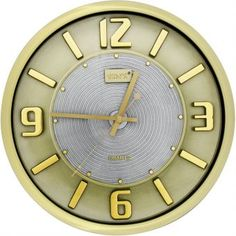 588e0542c85 Relógio de Parede Yins YI15087 Dourado 32cm - Megazim