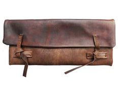 i love this- a rustic clutch/pencil case/anything carrier..