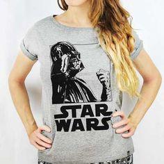 f7cb4562c3ff7 Camiseta Feminina Darth Vader PB - Star Wars Loja Geek - Tudo sobre o mundo  geek e nerd - Camisetas