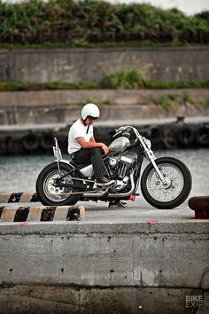 It's one of the best custom Sportsters we've ever seen—and hiding very clever hardtail setup designed to pass the rigorous Taiwan inspection regs. Sportster Chopper, Hd Sportster, Harley Bobber, Harley Davidson Chopper, Harley Bikes, Bobber Motorcycle, Bobber Chopper, Harley Davidson Sportster, Cruiser Motorcycle