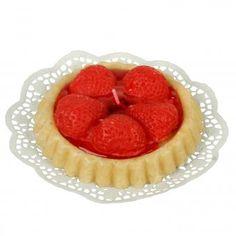 Kerze Erdbeertörtchen