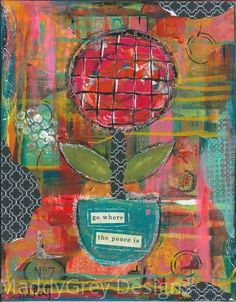 Flower art, find peace, peaceful soul, indie art, gypsy art, gypsy flower, inner peace, happiness, content, soulful art, inspirational art - pinned by pin4etsy.com