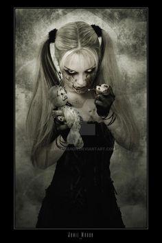 Hexabelle - Voodoo 1 by jamiemahon on DeviantArt Gothic Vampire, Dark Gothic, Dark Beauty, Gothic Beauty, Dark Side, Halloween Imagem, Scary Halloween, Gothic Fantasy Art, Beautiful Dark Art