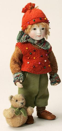 Henry in Winter Outfit by Lynne and Michael Roche
