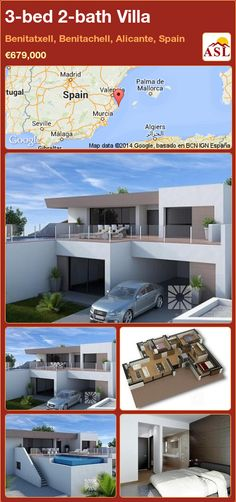 3-bed 2-bath Villa in Benitatxell, Benitachell, Alicante, Spain ►€679,000 #PropertyForSaleInSpain