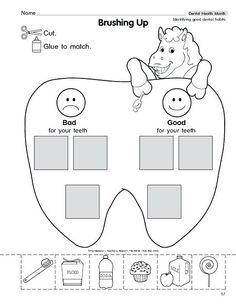 Dental Activities For Preschool, Health Activities, Kindergarten Science, Kindergarten Worksheets, Worksheets For Kids, Shapes Worksheets, Preschool Lessons, Space Activities, Science Worksheets