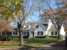 old white painted brick house exteriors | architect design™: Windsor Farms, Richmond