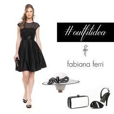 #OutfitIdea... Per #abiti e #accessori è tornata una grande #tendenza, che possiamo definire più che un semplice accostamento di #colori, una vera garanzia di #stile parliamo del perfetto contrasto #black and #white!  #moda #clutch #sandali #cappello #collezione #shoes #bags #style #stile #FabianaFerrishoes&bags #2015