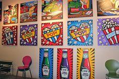 burton morris Art Prints, Pop Art For Kids, Drawings, Collage, Art, Burton Morris, Burton