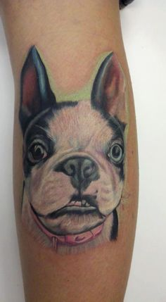 Sweet Boston Terrier tattoo