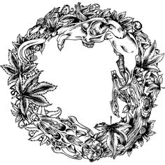 Bad Ass Skull Cannabis Wreath Single Color Clip Frame Found On Bing Image Search