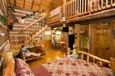 Hand Hewn Cabins At Silver Dollar City S The Wilderness In