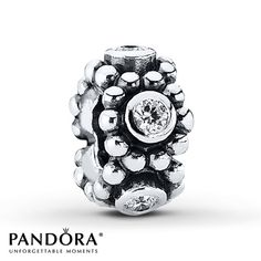 Pandora Spacer Clear CZ  Sterling Silver