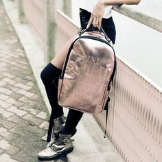 The @Sprayground Rose Gold Brick Backpack will add the perfect glam to your everyday look and still keep you organized. This bag has separate laptop and tablet compartments completed with zippers on the front and side pockets. #sprayground #sportique #sportiquesf #discovercuration
